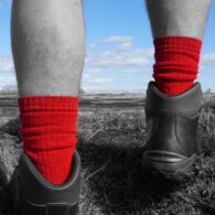 PITTCH red Walking boot sock
