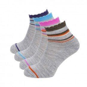 Ladies Ankle Mini Stripe Sock